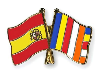 Crossed Flag Pins Spain-Buddhism