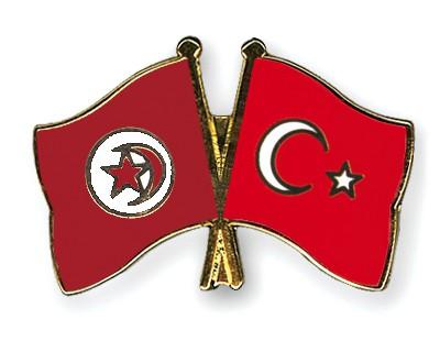 Crossed Flag Pins Tunisia-Turkey