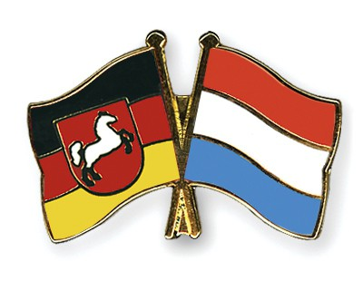 Crossed Flag Pins Lower-Saxony-Luxembourg
