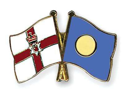 Crossed Flag Pins Northern-Ireland-Palau