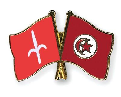 Crossed Flag Pins Trieste-Tunisia