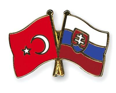Crossed Flag Pins Turkey-Slovakia