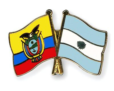 Crossed Flag Pins Ecuador-Argentina