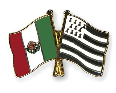 Crossed Flag Pins Mexico-Britanny