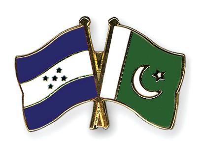 Crossed Flag Pins Honduras-Pakistan