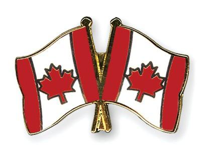 Crossed Flag Pins Canada-Canada