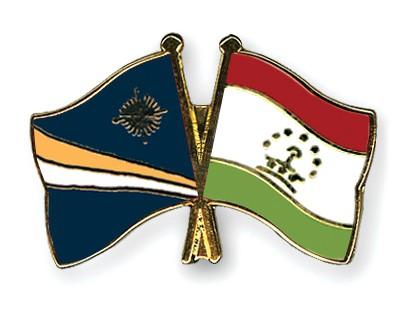 Crossed Flag Pins Marshall-Islands-Tajikistan
