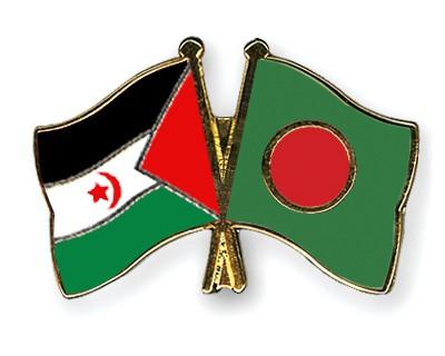 Crossed Flag Pins Western-Sahara-Bangladesh