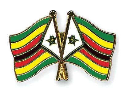 Crossed Flag Pins Zimbabwe-Zimbabwe