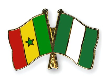 Crossed Flag Pins Senegal-Nigeria