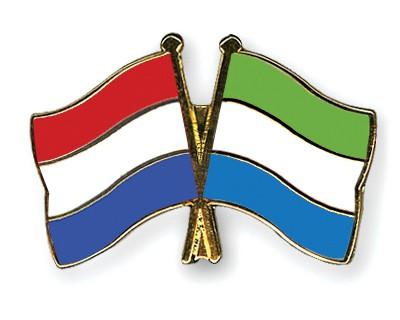 Crossed Flag Pins Netherlands-Sierra-Leone
