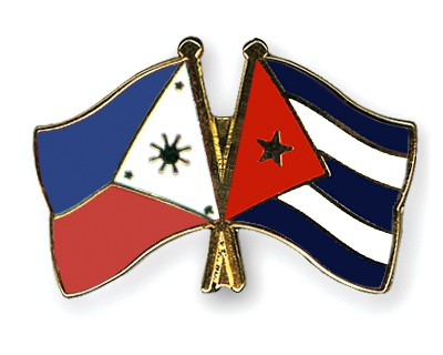 Crossed Flag Pins Philippines-Cuba