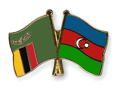 Crossed Flag Pins Zambia-Azerbaijan