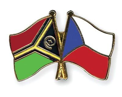 Crossed Flag Pins Vanuatu-Czech-Republic