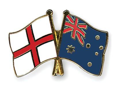 Crossed Flag Pins England-Australia