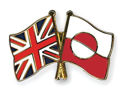Crossed Flag Pins Great-Britain-Greenland