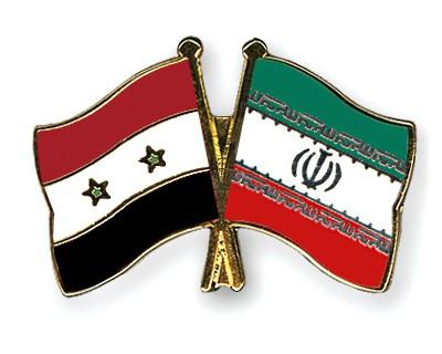 Crossed Flag Pins Syria-Iran