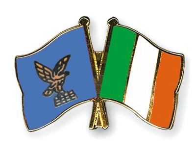 Crossed Flag Pins Friuli-Venezia-Giulia-Ireland