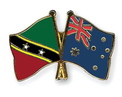 Crossed Flag Pins Saint-Kitts-and-Nevis-Australia