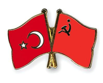 Crossed Flag Pins Turkey-USSR