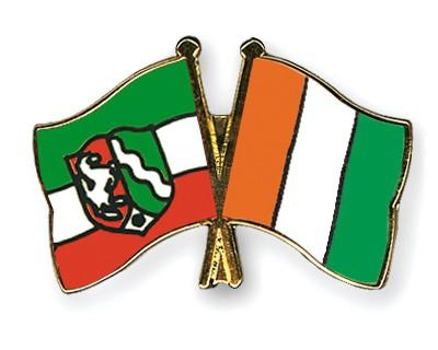 Crossed Flag Pins North-Rhine-Westphalia-Cote-d-Ivoire