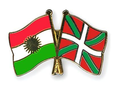 Crossed Flag Pins Kurdistan-Basque-country
