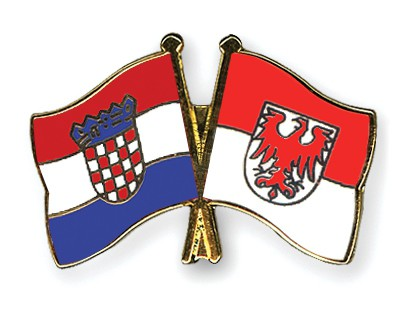 Crossed Flag Pins Croatia-Brandenburg