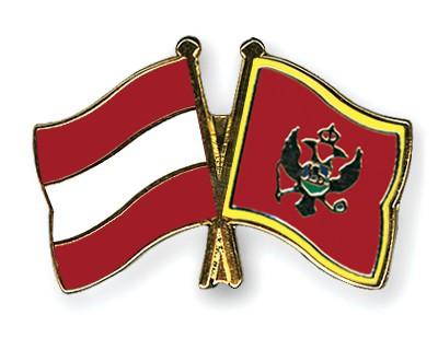Special Offer Crossed Flag Pins Austria-Montenegro