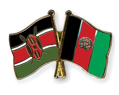 Crossed Flag Pins Kenya-Afghanistan