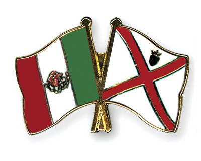 Crossed Flag Pins Mexico-Jersey