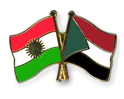 Crossed Flag Pins Kurdistan-Sudan