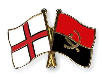 Crossed Flag Pins England-Angola