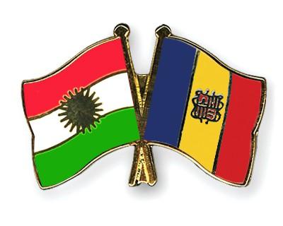 Crossed Flag Pins Kurdistan-Andorra