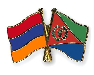 Crossed Flag Pins Armenia-Eritrea