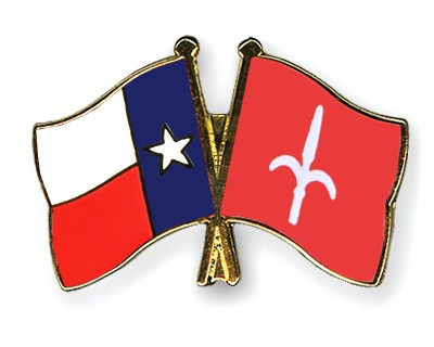 Crossed Flag Pins Texas-Trieste