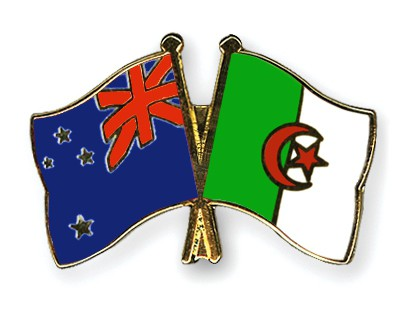Crossed Flag Pins New-Zealand-Algeria