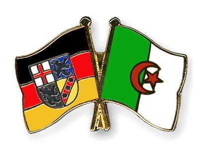 Crossed Flag Pins Saarland-Algeria
