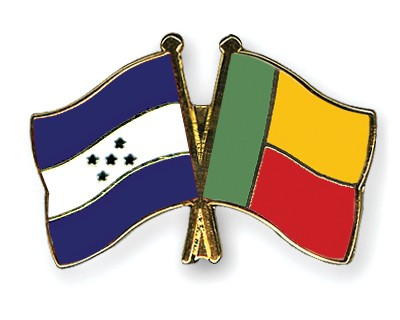 Crossed Flag Pins Honduras-Benin