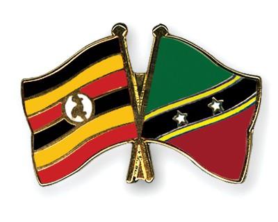 Crossed Flag Pins Uganda-Saint-Kitts-and-Nevis