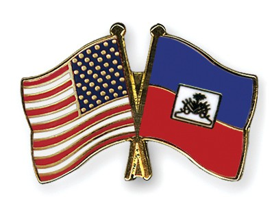 Crossed Flag Pins USA-Haiti