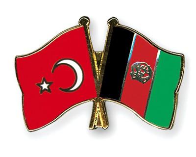 Crossed Flag Pins Turkey-Afghanistan
