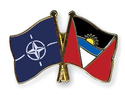 Crossed Flag Pins NATO-Antigua-and-Barbuda