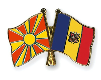 Crossed Flag Pins Macedonia-Andorra