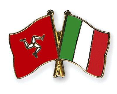 Crossed Flag Pins The-Isle-of-Man-Italy