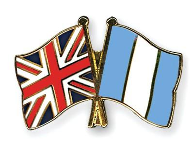 Crossed Flag Pins Great-Britain-Guatemala