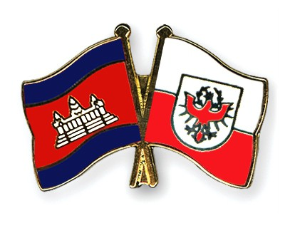 Crossed Flag Pins Cambodia-Tyrol
