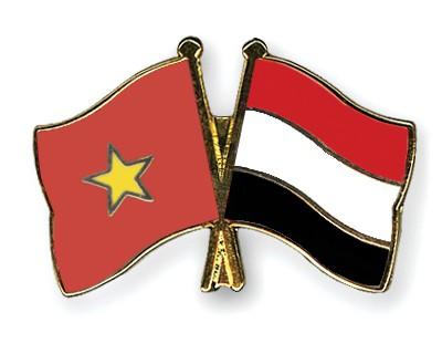 Crossed Flag Pins Vietnam-Yemen