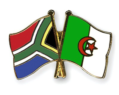 Crossed Flag Pins South-Africa-Algeria