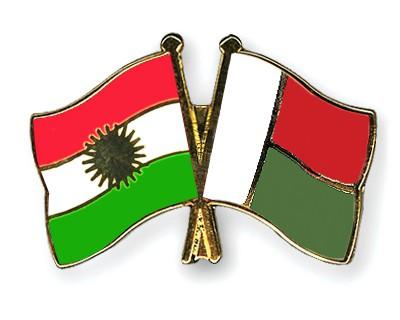 Crossed Flag Pins Kurdistan-Madagascar