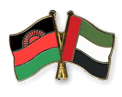 Crossed Flag Pins Malawi-United-Arab-Emirates